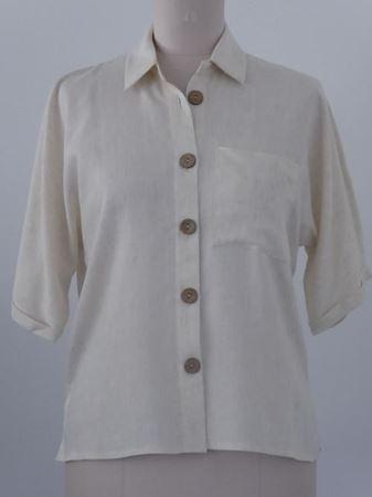 Bild von Damen Bluse aus Leine