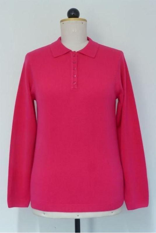 Bild von Polo-Pullover mit Knopfleiste