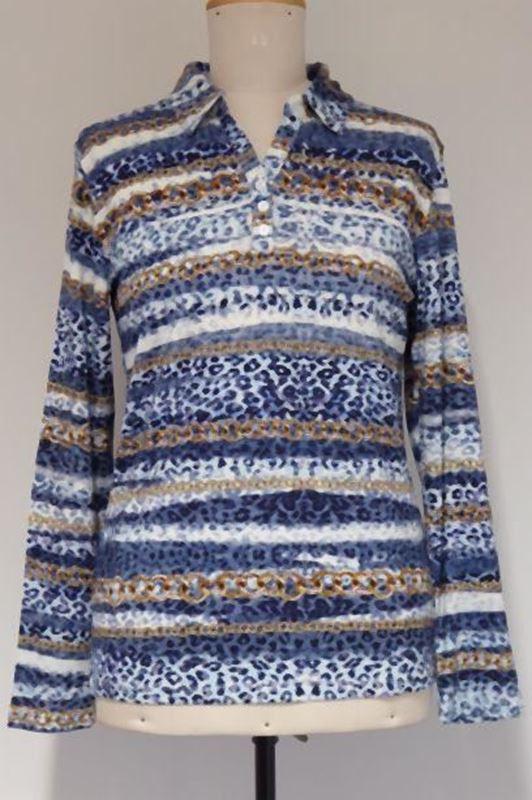 Bild von Bequemes Damen Poloshirt mit Knopfleiste
