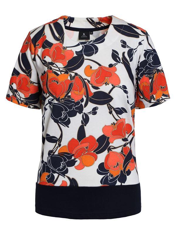Damen T-Shirt mit schönem Blumenaufdruck