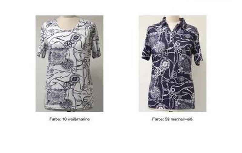 Bild von Dehnbare Damen Poloshirt  mit Knopf